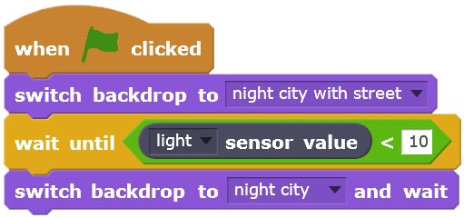picoboard light sensor